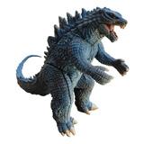 Godzilla Articulado Con Sonido Real 45 Cm Largo Azul