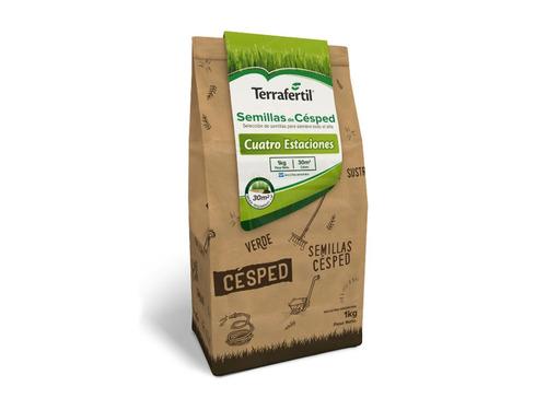 Semilla Cesped Pasto Terrafertil - 4 Estaciones Premium 1kg