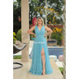 Maravilhoso Vestido Longo Luxo Todo De Brilho Fenda Decote Original