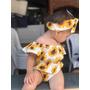 Body Bebê De Menina Iantil Mesversário Girassol Amarelo Original