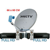 Kit Directv Prepago Antena 60 Cm + 2 Decodificadores Full Hd