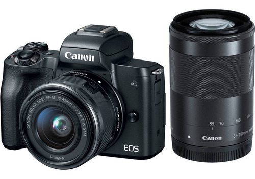Canon M50 15-45mm Is Stm + 55-200mm Is Stm Kit Mirroless
