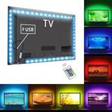 Cinta Tira Led Colores Rgb Usb Tv Pc + Control Remoto Flex