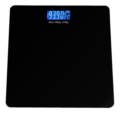 Bascula Digital Deluxe Balanza Personal De Baño 180kg Temper
