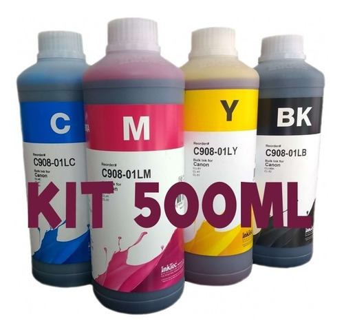 Pack 500ml Compatible Canon Gi190 G1100 2110 G2160 G310 G410