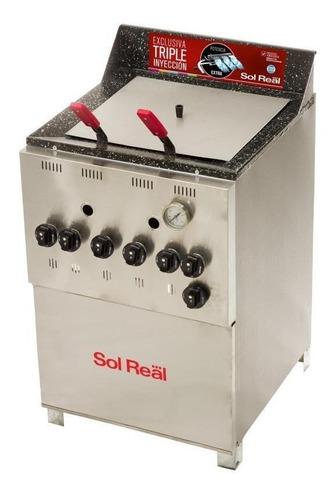 Freidora Industrial Sol Real Triple Inyección 045 Plata