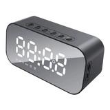 Relógio Despertador Digital Com Caixa De Som Bluetooth Tedge