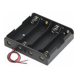 Portapilas X4 Porta Pilas Holder Para 4 Baterias 18650 Serie