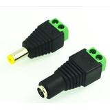 Conectores Jack Macho Hembra Par Plug 2.1mm X 5.5mm Camaras