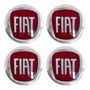 Kit Emblema Adesivo Fiat P/ Calota Resinado 48 Mm 4 Peças Original