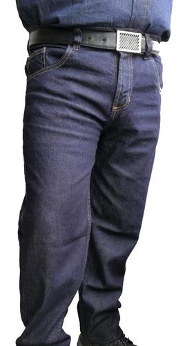 Pantalon Jean Dotacion Algodon Trabajo Indigo Clasico Rigido