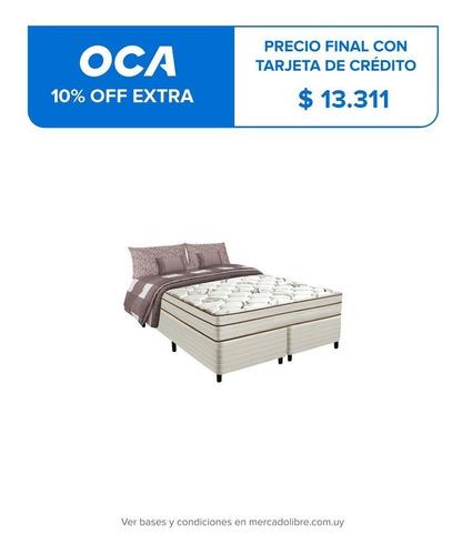 Sommier 2 Plazas Queen Alta Densidad Colchon Altura 26cm