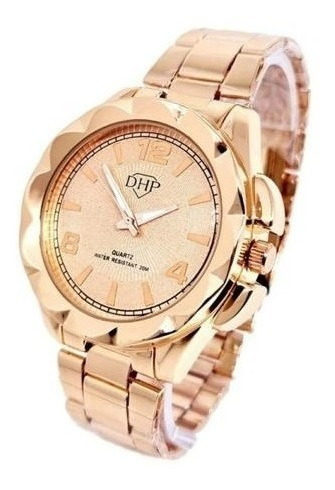 Relógio Feminino - Dhp Rose A Prova D'água