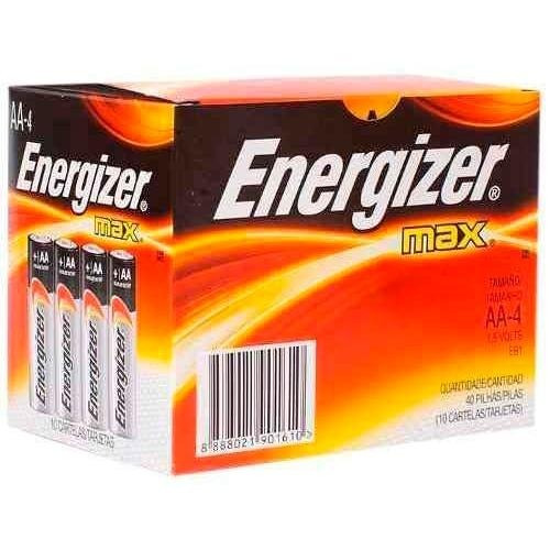 Energizer Pila Aa Alcalina Caja 10 Packs X 4un