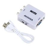 Convertidor / Adaptador Av Rca A Vga De Video 720-1080
