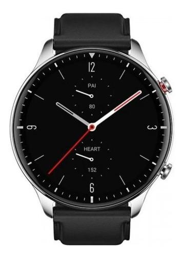 Smartwatch Amazfit Fashion Gtr 2 Classic Edition 1.39  Caja 46.4mm De  Acero Inoxidable Malla  Obsidian Black De  Cuero A1952