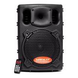 Parlante Winco B208-usb Portátil Con Bluetooth  Negro