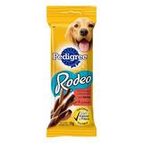 Petisco Para Cães Adultos Carne Pedigree Rodeo Pacote 70g 4 Unidades
