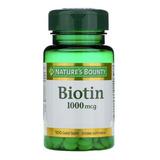 Nature's Bounty Biotin 1000mcg Salud Para Piel Cabello Uñas