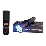 Kit  Defensa Personal Picana Eléctrica Y Paralizante Police