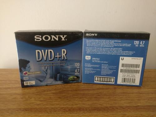 Dvd+r Sony Pack 10 Caja Slim
