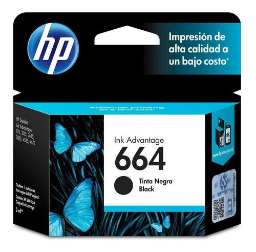 Tinta Original Hp 664 Negro Modelo F6v29al Incluye Iva