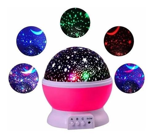 Luz De Noche Proyector Estrellas Giratorio Led Niños