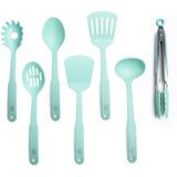 Greenlife Juego Utensilios Plástico Cocina Azul Turquesa 7pz