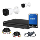Dahua Kit Seguridad Dvr 4 Ch Hdmi P2p + 2 Camaras Full Hd 1080p 2mp Interior Exterior Ip 67 + Disco 1 Tb