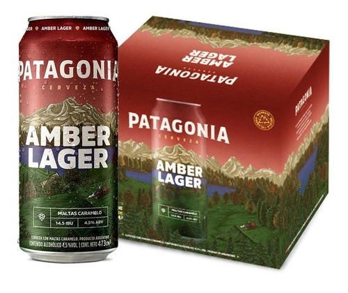 Cerveza Patagonia Amber Lager 473ml X6