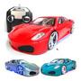 Carro Carrinho Controle Remoto Ferrari Rebaixado Neon Full Original