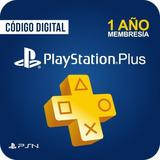 Playstation Plus 1 Año 12 Meses Ps4 Psn Codigo Original Usa