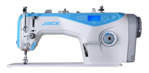 Máquina De Coser Industrial Jack A4 Blanca Y Celeste 220v
