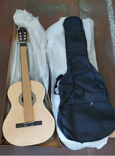 Guitarra Acustica Clasica Con Alma Y Funda, Natural Mate