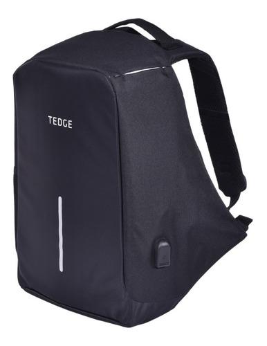 Mochila Antirrobo - Tedge - Para Notebook 15.6  Con Puerto Usb 35 Lts