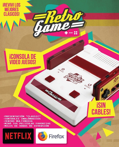Consola Videojuegos Retro Game +1500 Juegos Retros Arcade Family Netflix Youtube Firefox Ohmyshop