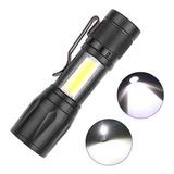 Potente Mini Linterna Zoom Led Xpe Cob Recargable Usb 3 Modo