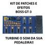 Kit Patches Pedaleira Boss Gt-3 Efeitos Timbres Original
