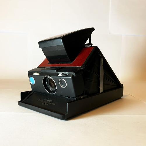Cámara Análoga Instantánea Polaroid Sx-70 Alpha Negro/vino