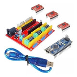 Kit Cnc Shield Arduino Nano + Nano + 3 Driver A4988 + Cable