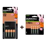 Kit Duracell Cargador Con 4 Pilas Aa +4 Pilas Aaa