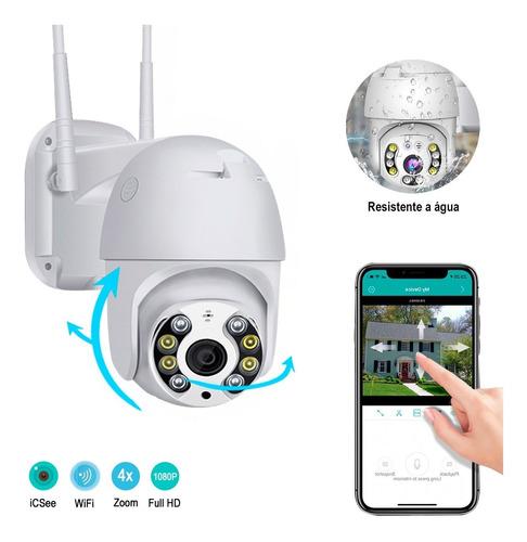 Câmera Segurança Ip Wifi Auto Tracking Audio Infravermelho