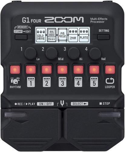 Pedalera Multiefectos Zoom G1 Four + Adaptador
