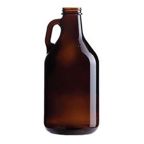 Botellon Growler 1.9 Lts Vidrio Ambar Cervecero Con Tapa