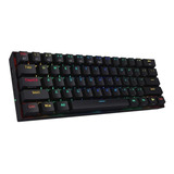 Teclado Gamer Bluetooth Redragon Draconic K530 Qwerty Outemu Brown Inglés Us Color Negro Con Luz Rgb