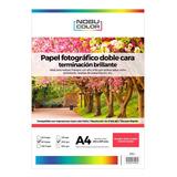 Papel Foto Brillante Doble Cara Nobucolor A4 200 Gr. 50 Hoja