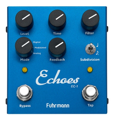 Pedal Guitarra Fuhrmann Echoes-tapdelay Ec01 Azul Tap Delay