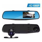 Espejo Retrovisor Camara Frontal Testigo Para Auto Hd + Camara Trasera Video Filmadora