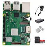 Kit Raspberry Pi 3b+ Uk Completo Con Microsd 16gb Emakers