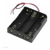 Porta Pila Holder Bateria Pilas 18650 Para 3 Baterias